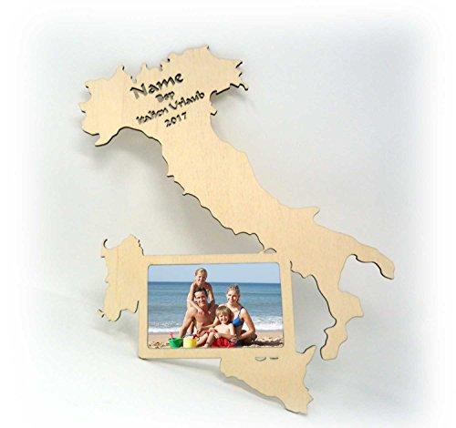 Preisvergleich Produktbild Italien Sizilien Urlaub Wand Tür-Schild Bilderrahmen Souvenier Geschenke für Erwachsene & Kinder-Zimmer Accesoires mit Namen