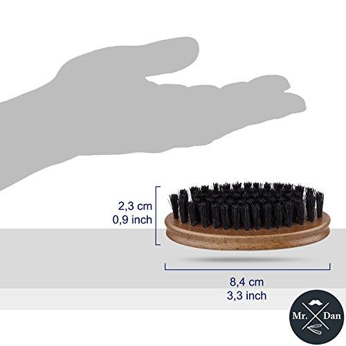 Bartbürste, Wildschweinborsten, Griff aus Shima superba Holz Abbildung 3