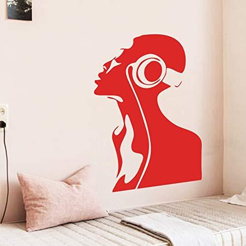 Kunst design billig vinyl dekoration musik mädchen wandaufkleber abnehmbare haus dekor mode musiker aufkleber im schlafzimmer oder shop 58X83CM