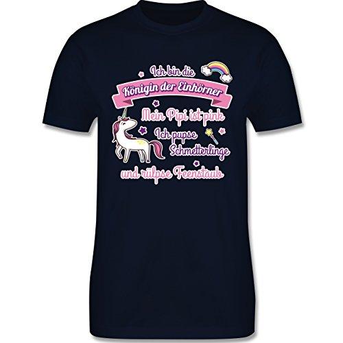 Statement Shirts - Königin der Einhörner - Herren Premium T-Shirt Navy Blau
