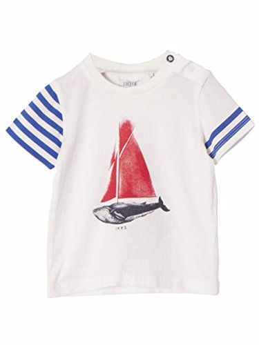 Ikks-T.shirt jersey di cotone, colore: bianco, da bebè Ikks bianco 3 mesi