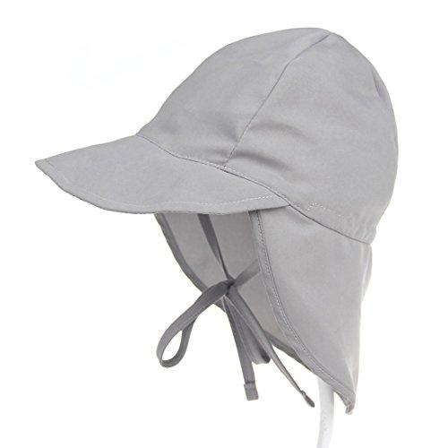 Boomly Boomly Baby Sonnenhut Schirmmütze mit Nackenschutz Anti-UV Hut Baumwolle Atmungsaktiv Strandhut Sommer Outdoor Schutz Hut