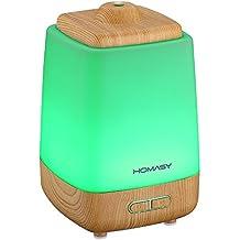 HOMASY 200ml Humidificateur Ultrasonique Portable Purificateur d'air à Brume Fraîche Arôme Diffuseur d'Huiles Essentielles Aromathérapie pour Spa, Maison, Bureau