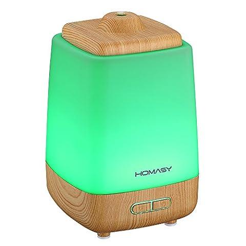 HOMASY 200ml Humidificateur Ultrasonique Portable Purificateur d'air à Brume Fraîche