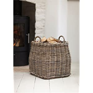 Garden Trading Company Ltd Log Basket, Brown, 40x40x54