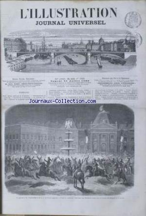 ILLUSTRATION (L') [No 1222] du 28/07/1866 - REVUE POLITIQUE - CORRESPONDANCE DE LUNEVILLE - COURRIER DE LUXEMBOURG - LA LORRAINE - HISTOIRE DE LA GUERRE - CAUSERIE DE LA MODE - M. MARTINI