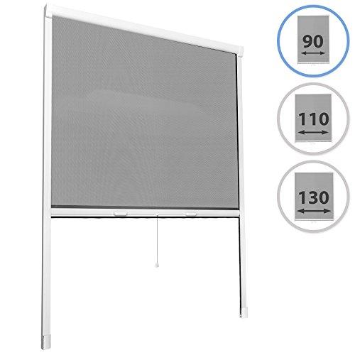 TecTake MOSQUITERA Enrollable DE para Ventana Protección contra Insectos Cortina - Varias Tamaños - (90x160cm | no. 402063)
