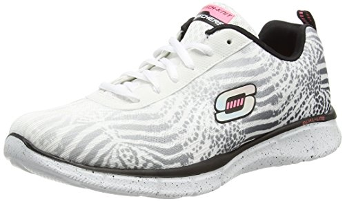 Skechers Equalizer Surf Safari, Sneakers basses femme Blanc - Blanc (Wbk)