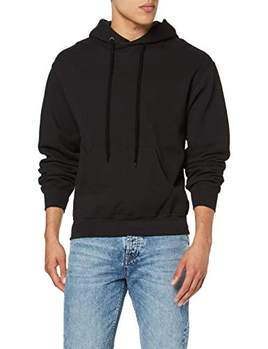 Fruit of the Loom Herren Kapuzenpullover, Black , Medium (Fruit Of The Loom)