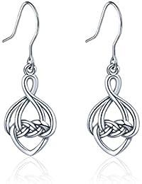 d70fd19d684d Amazon.es  Simbolos Celtas - Plata   Pendientes   Mujer  Joyería