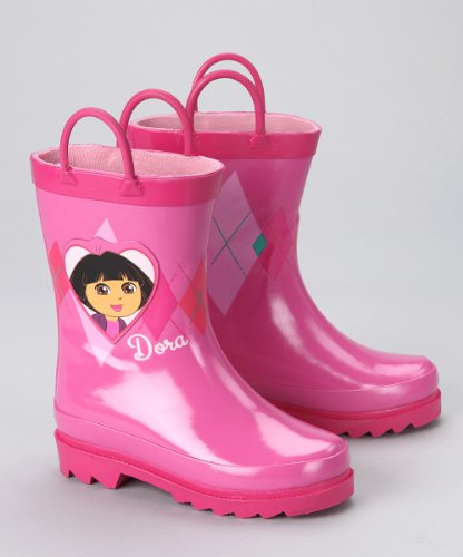 Nickelodeon Dora the Explorer Girls Pink Rain Boots (Toddler/Junior)