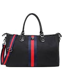 BigForest Fashion Large capacity with ribbon appliqu¨¦ Small Weekend Duffel Travel Tote Bag Handbag For Shopping, Beach, Sports, Gym