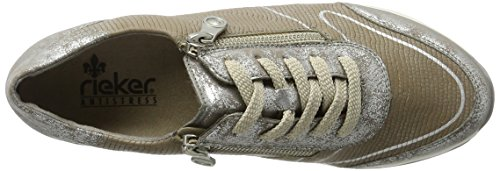 Rieker Damen N1821 Sneakers Silber (Silber/steel / 90)