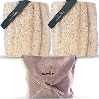 Luffa-Schwamm für Peeling, 100% natürliche, organische Duschluffa für den Körper, hochwertig, ägyptischer Körperschwamm für Cellulite -