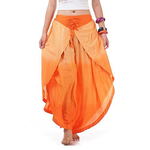 Hosenrock Haremshose Aladinhose Orange