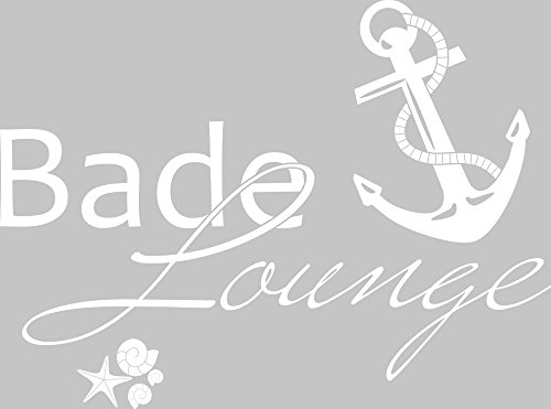 GRAZDesign 650139 Wandtattoo Bade-Lounge Anker | Badezimmer-Tattoo ...