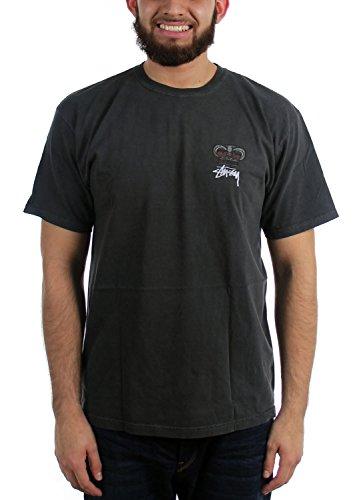 Stussy Das Babylon der Männer auf Feuer-Pigment Gefärbt T-Shirt, X-Large, Black (Aus T-shirt Pigment-gefärbtes)