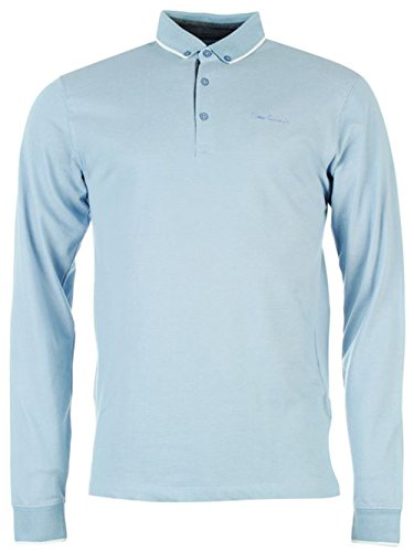 mens-designer-pierre-cardin-everyday-long-sleeve-jacquard-polo-shirt-large-blue