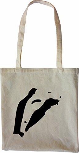Mister Merchandise Tote Bag Dachs Borsa Bagaglio , Colore: Nero Naturale