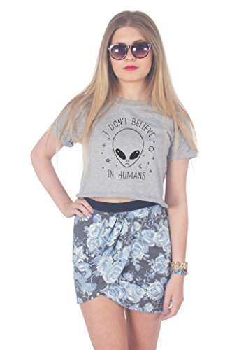 Sanfran Clothing Damen T-Shirt Grau