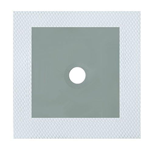 BEHA Wandmanschetten, Dichtmanschetten 120mm x 120mm, Loch Ø 16mm, zur Abdichtung von Rohranschlüssen