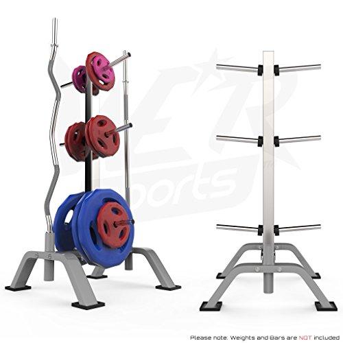 """We R Sports Gewicht Platte Scheibe Zahnstange & Hantel Bar Baum Lagerung Stehen - Standard 1.\"""" (25mm)"""