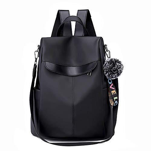 Bfmyxgs Mode Umhängetasche für Frauen Mädchen Feste Reißverschluss weich mit Regenschutz Oxford Innen Reißverschluss Tasche Rucksack Trend Wild Oxford Stoffbeutel Große Kapazität Reiserucksack (Coach Laptop Bag 13)