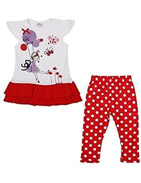 Nova - 2-Teiliges Bekleidungsset für Mädchen - Leggings und Tunika mit Balloon Mädchen Druck