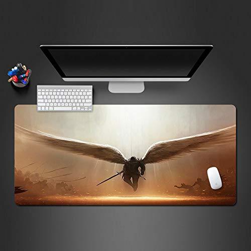 Lglays Angel Warrior Design Mauspad Coole Tastatur Mode Computer Mauspad Spiel Griff Maus Spieler Gamepad