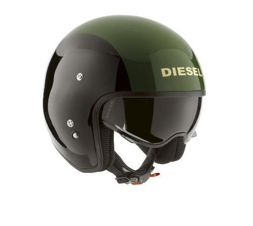 AGV Helmets HI-Casco Jet Jack Diesel E2205 de Graffiti, Multicolore (Noir/Vert), talla S