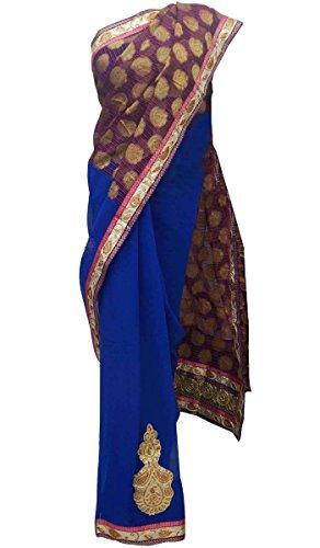 Bollywood étnico del nuevo diseñador Georgette partido paquistaní Ropa de indio de la sari