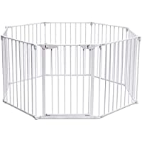 CASART 5/6/8 Panel Metal Fireplace Fence/Safety Gate/Safety Barrier/Stove & Fire Guard/Room Divider for Bedroom Kitchen Office Home
