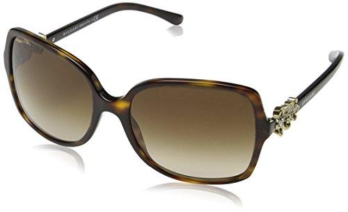 Bulgari 0bv8120b 504/13 57 occhiali da sole, marrone (dark havana/gray gradient), donna