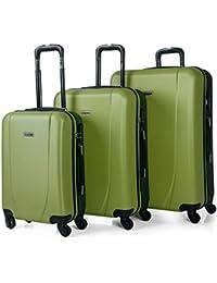 ITACA - Maletas de Viaje Trolley ABS. Rígidas, Resistentes y Ligeras. Mango Telescópico, Asas, 4 Ruedas. Candado Integrado. Pequeña Cabina Low Cost Ryanair, Mediana y Grande XL