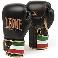 Leone 1947 GN039 Guantes de Boxeo, Unisex – Adulto, Negro, 10OZ