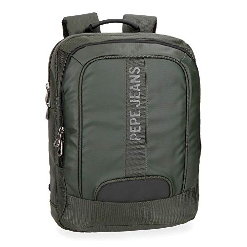 Pepe Jeans Bromley Mochila Tipo Casual, 40 cm, 10.8 litros, Verde