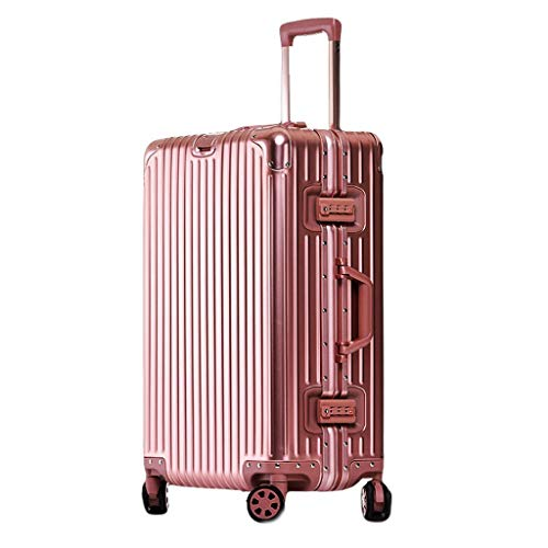 """HUANGA Valigia trolley da viaggio valigia bagaglio con cerniera rigida ABS + PC, valigia da lavoro super leggera (26"""", argento) (Color : Blue, Dimensione : 24 inches)"""