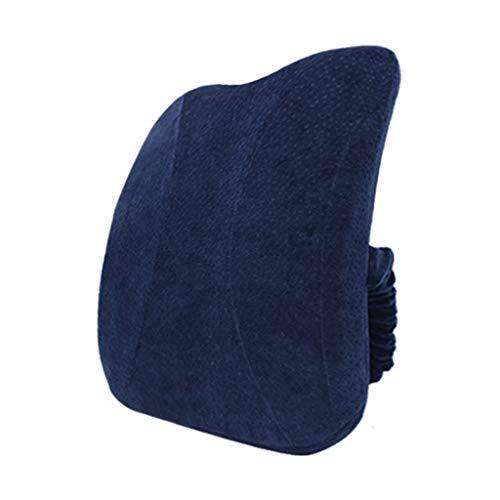 Rückenkissen aus Memory-Schaum, 100% reiner Memory-Schaum, ausgeglichene Härte, zur Schmerzlinderung im unteren Rücken, ideal für Computer/Bürostuhl, Autositz, Liege etc. (Lkw Voller Bettwäsche)