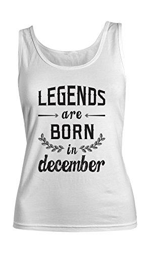 Legends Are Born In December Birthday Gift Anniversary Present Femme Tank Top Debardeur Blanc