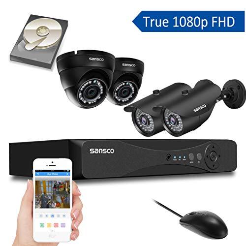 Kare® 4CH 720P Digital Video Recorder CCTV Sicherheit Kamera System mit 4× Outdoor/Indoor 720P 1.0MP HD IP Kamera (IP66Metall Gehäuse vandalensicheres, Hi Auflösung 720p HD, Superior Night Vision, E-Cloud) Swann 4 Channel Dvr