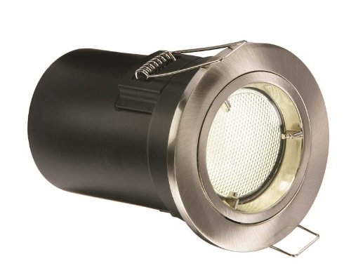 Saxby 13836-energetico, CFL a incasso fissa, 13 W, in Nickel satinato