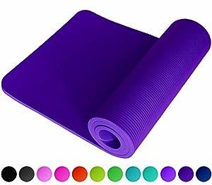 ReFit Fitnessmatte in Violett | 1.5 cm | Rutschfest | gelenkschonend | Extra Dick und Weich | Maße 183 cm x 61 cm x 1.5 cm | mit Praktischem Trageband |