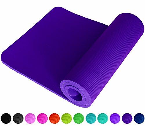 Fitnessmatte Violett Violet Fitness Gymnastik Sport Turnen Pilates 1,5 cm dick sehr weich 183 x 61 Trageband Rutschfest Sportmatte Yogamatte Gymnastikmatte Trainingsmatte Unterlage Turnmatte ReFit
