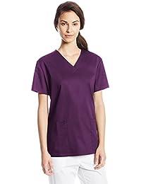 Cherokee- Camisa de traje de médico con cuello en V, ...