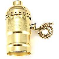Qiyun Basi lámpara E26E27Portalámparas Retro Vintage Edison con Interruptor de Cadena para casa Oficina
