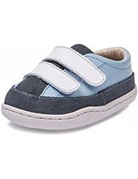 Little Blue Lamb–Zapatos para bebé unidad lernschuhe Zapatillas piel 31603Azul Gris