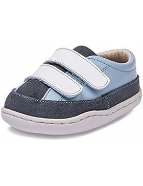 Little Blue Lamb Babyschuhe Lauflernschuhe Sneaker Echt Leder 31603 blau grau