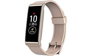 MyKronoz ZEFIT4-ROSEGOLD  ZeFit4 Activity Tracker with Colour Touchscreen and SmartphOne Notifications - Powder Pink/Gold