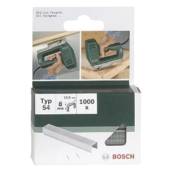 Bosch 2609255839 Set de 1000 agrafes à fil plat Type 54 Largeur 12,9 mm Epaisseur 1,25 mm Longueur 6 mm