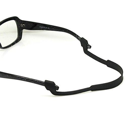 Healifty Brillen Anti-Rutsch-Bügel elastische Brillenschnur Silikon-Brillenband für Sportlesung (schwarz)